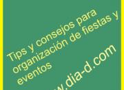 Día D - Tips para organización de fiestas y eventos