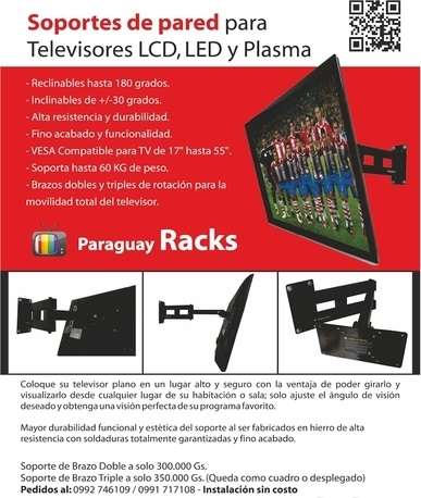 Soporte de pared para tv lcd / led -- instalacion gratis !!