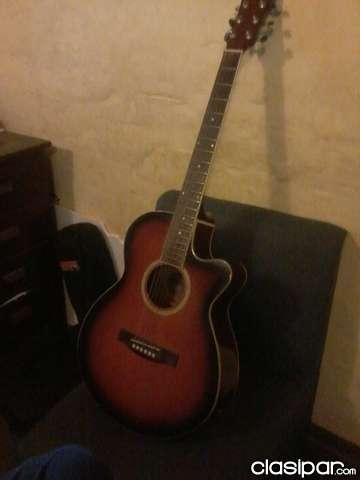 Vendo guitarra electroacustica marca freeman