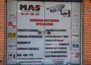 Venta e instalaciones de cámaras y otros equipos de seguridad