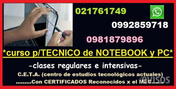 Curso para tecnico de notebook y pc