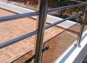 varandas de acero inoxidable y vidrios