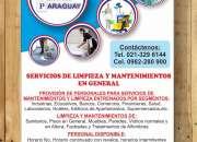 SERVICIOS DE LIMPIEZA Y MANTENIMIENTOS EN GRAL.