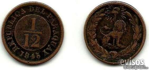 Vendo primera monedad del paraguay año 1845