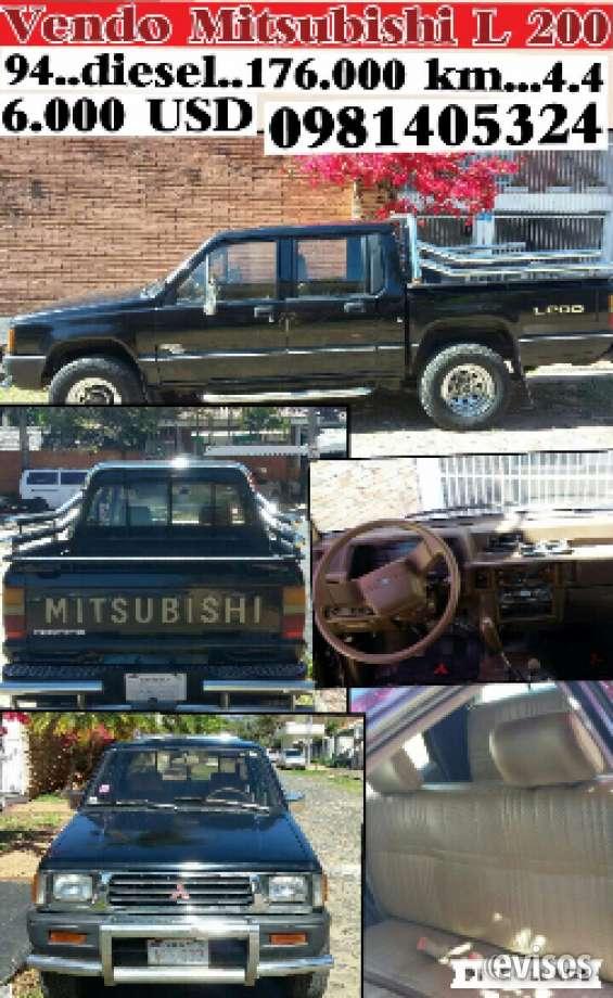 Vendo camioneta mitsubishi l200