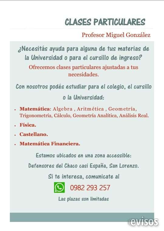 Clases particulares de matemáticas y castellano