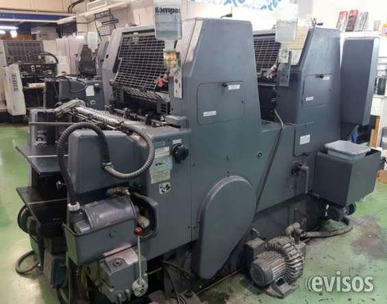 Se vende maquina para imprenta heidelberg gtoz p52 (2 colores)