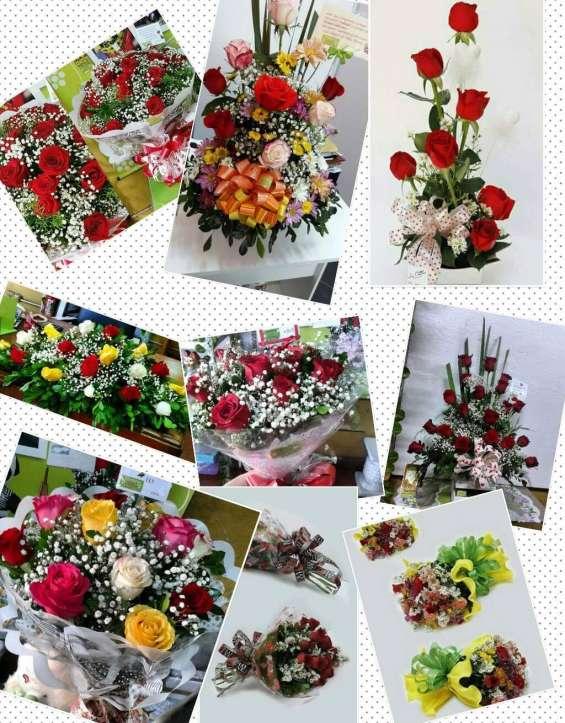 Ramos de rosas, flores coloridas