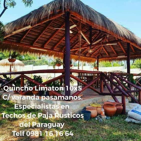 Techos de paja rusticos del paraguay - especialistas