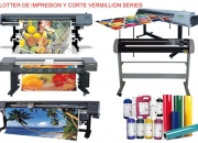 Vendo maquinas p/ impresión gran formato, plotter de impresión y de corte computarizados