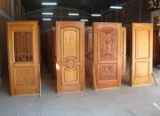 Puertas, ventanas, placares, mueble de cocina, juego de comedor y escalera