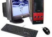 Oferta computadora intel pentium dual core /1.8ghz/80 gb/1gb/placa asus/ con monitor crt