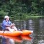 Kayak de pesca, portatil y mochila. AMIBOTE