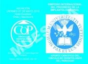 Primer simposio internacional del progreso de la …