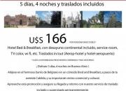 Buenosaires5 dias, 4 noches hotel-traslado aero…