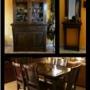 vendo juego de comedor de madera paraiso-aparador en juego y mueble recibidor.