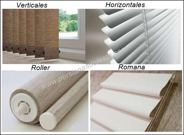 Persianas - cortinas verticales - cortinas horizontales