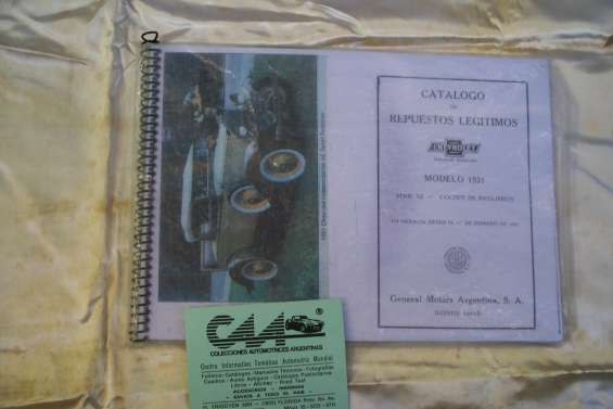 Manual despiece chevrolet serie ab 1931