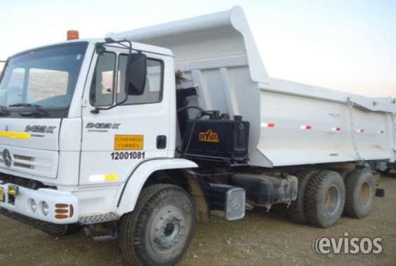 Vendo camión tumba mercedes benz 2423k, doble eje, año 2008