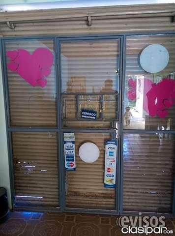 Estructura de puerta de vidrio para negocio
