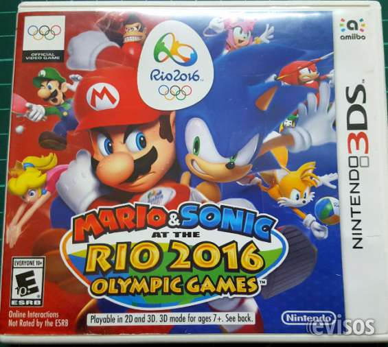Mario y sonic - olympic game 2016 nintendo 3ds