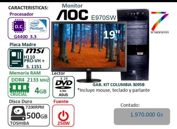 Pc combo pentium dual core - ddr4 4gb - hdd 500bgb