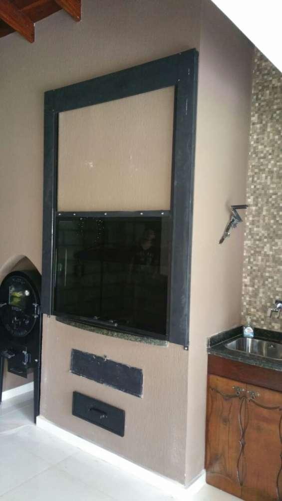Tapa churrasquera de vidrio templado