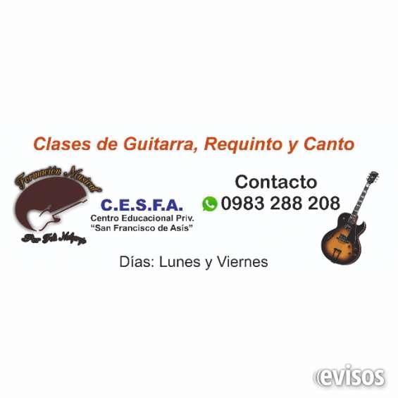 Formación musical, clases de guitarra, requinto y canto