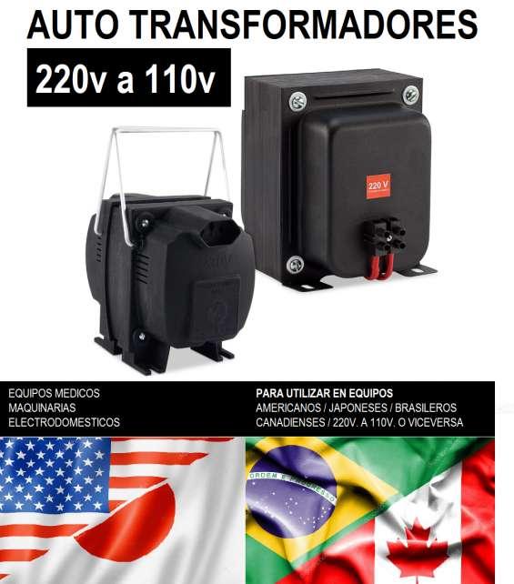 Transformador de 220 a 110v para equipos americanos brasileros canadienses o japoneses 110