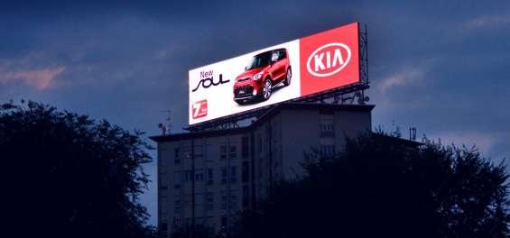 Publicidad en pantallas de video gigantes para exterior