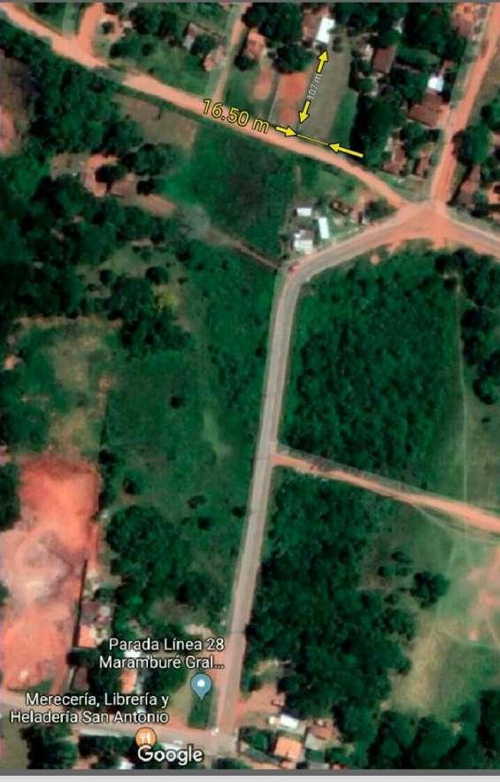Vendo terreno de 1.765m2 en luque- marambure