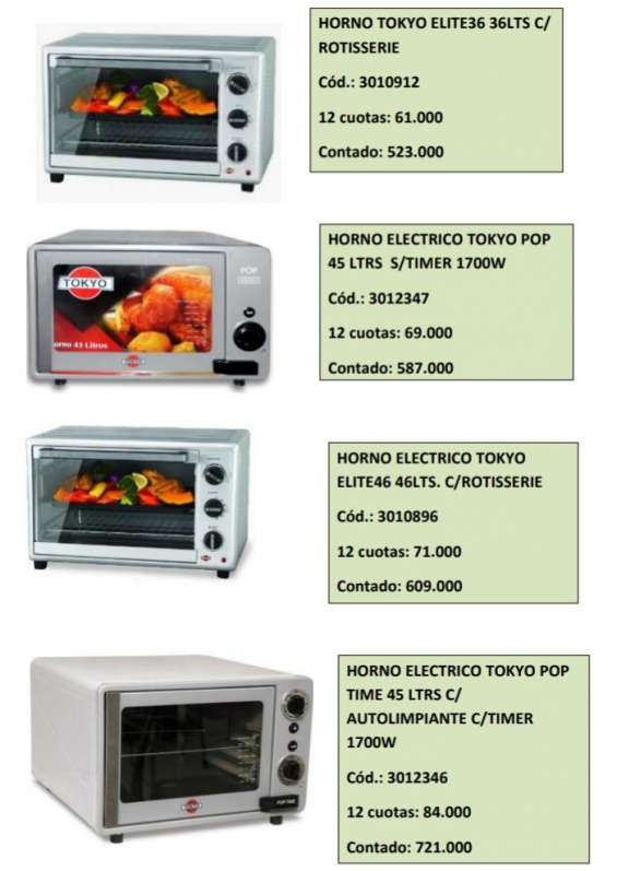 Secarropas electrolux,congeladores tokyo, honos fabricadoras de pan