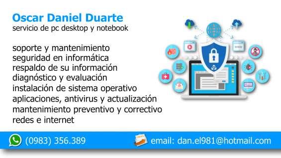 Servicio de soporte técnico e internet