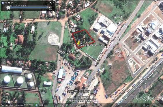 Vendo terreno de 3.000 m2 en el circuito comercial de encarnacion