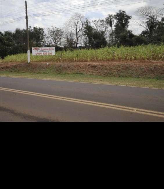 En chore, san pedro, paraguay vendo dos terrenos juntos sobre avda asfaltada