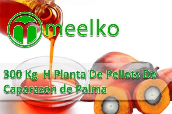 300 kg h planta de pellets de caparazón de palma meelko