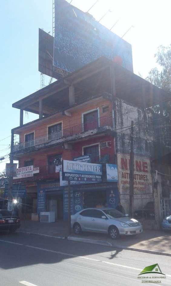 Vendo hermosa propiedad, zona shopping san lorenzo, sobre ruta 2