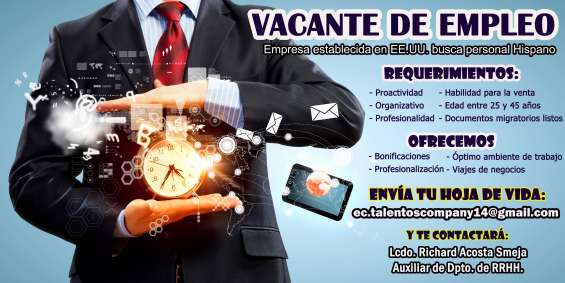Vacantes disponibles para vendedores natos